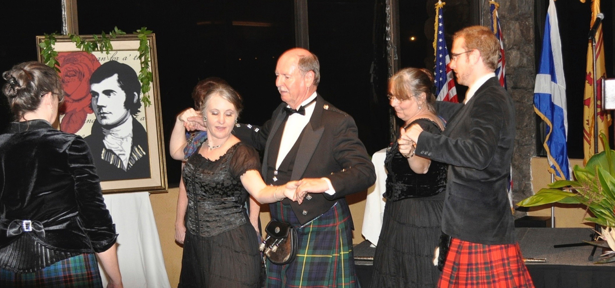 Picture of Scottish dancers at Burns Night